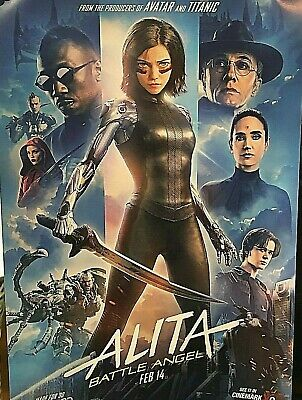 ALITA BATTLE ANGEL 2019 Original Cinemark XD Exclusive Mini Promo Movie Poster