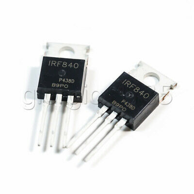 US Stock 10pcs IRF840 TO-220 Power MOSFET N-channel 500V 8A New