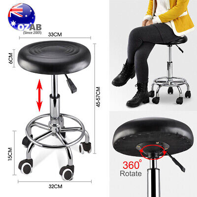 Salon Hairdressing Styling Round Chair PU Swivel Lift Stool Barber Massage SGS