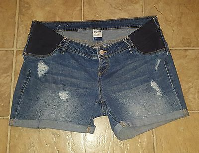 Old Navy Maternity Sz 12 Shorts Denim Jean Has Cuffs Distressed Euc Women