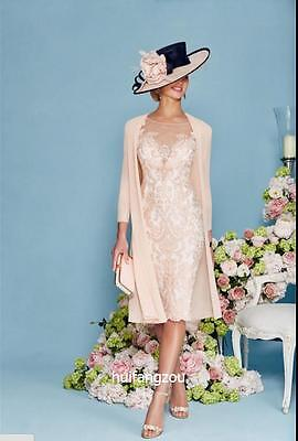 Light Pink Mother of the Bride Bridesmaids Formal Dresses Knee Length Spring New