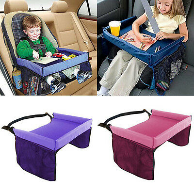 Child Baby Kids Car Seat Travel Play Tray Stroller Panting Snack Holder Table