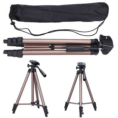 Lightweight Aluminum Professional Tripod for DSLR Canon Nikon Sony Camera Camcor