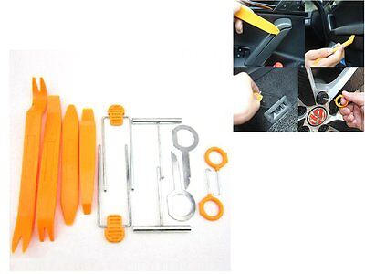 12X Plastic Car Radio Door Clip Panel Trim Dash Audio Removal Pry Tool Kit HT