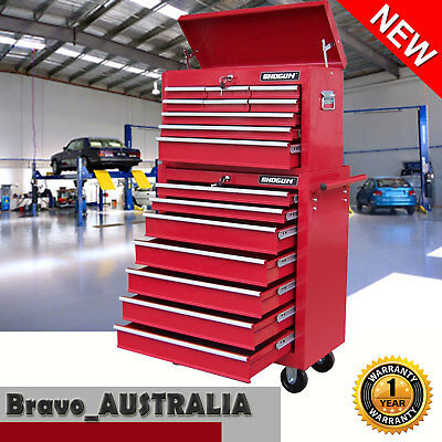 16 Drawer Home Mechanic Tool Box Chest Cabinet Trolley Roller Toolbox Storage
