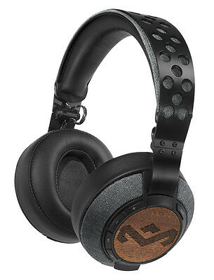 House of Marley Liberate XLBT Wireless Bluetooth Over-Ear Headphones - Black