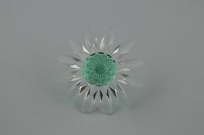 Lovely Swarovski Crystal Clear Green Marguerite Daisy Flower USC RD7243