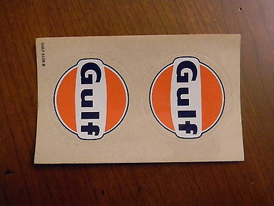 Pair Of Gulf Oil Company  Decals - Vintage