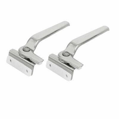 Stainless Steel Casement Window Locking Handle Grip Right Hand Silver Tone 2pcs