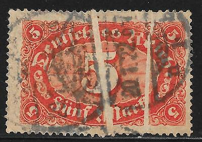 German Reich stamps 1921 MI 174 with 2 Paperfaults  CANC  VF