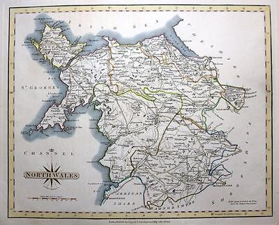 NORTH WALES   ANGLESEY  BY JOHN CARY GENUINE ANTIQUE MAP  c1793