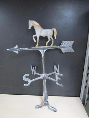 Vintage / Antique Solid Cast Aluminum Running Horse Solid Body Weather Vane