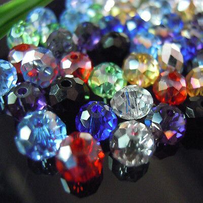 2mm,4mm,6mm,8mm,10mm,12mm Rondelle Beads Loose Crystal Beads For DIY Jewelry