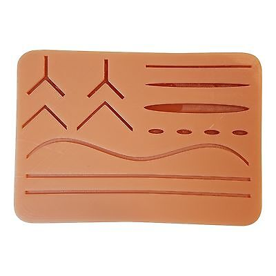 """Large Suture Pad w/ Wounds (7"""" x 5"""") (Light Skin) New Free Shipping"""