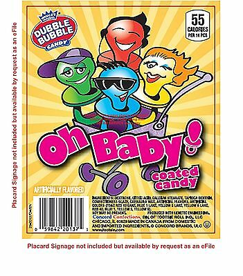 4lb OH BABY PACIFIERS Dubble Bubble coated candy SweetTart Fruit flavr bulk vend