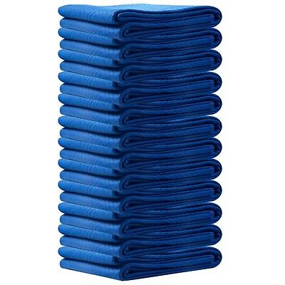 72 x 80 Inches Professional Padded Moving Furniture Blankets Navy Blue Set of 12