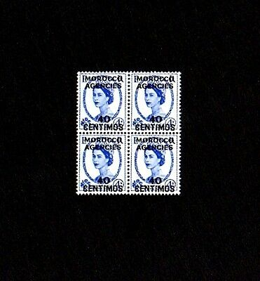 Morocco - 1955 - Qe Ii - # 108 - Great Britain # 323 Ovpt - Mint - Mnh Block!