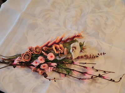 """Vtg Retro Millinery Flower Collection 1"""" -2 1/2"""" Pink Salmon Brown For Hat H1358"""