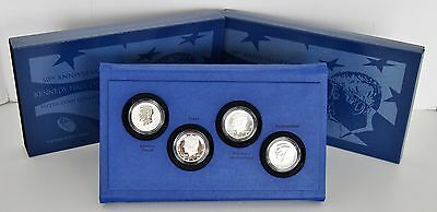 2014 US 50th Anniversary Kennedy Half Dollar Silver Coin Collection w/OGP & COA