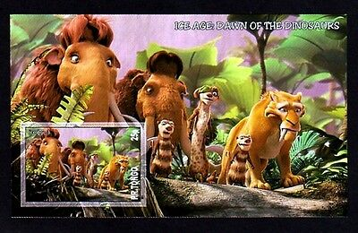 Disney - 2011 - Ice Age  - Dawn Of Dinosaurs -  Mint Imperf S/sheet!