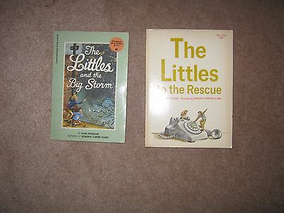 Lot of 2 Vintage The Littles Books by John Peterson Big Storm The Rescue
