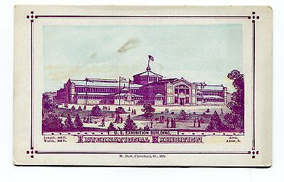 Souvenir Card 1876 Philadelphia Intl Exposition Worlds Fair US EXHIBITION BLDG
