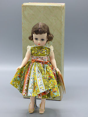 "Madame Alexander Cissette 801 9"" Doll 1950's with Box and Tags Auburn Hair Great"