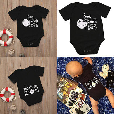Newborn Infant Kids Baby Boy Girl Romper Bodysuit Jumpsuit Clothes Outfits 0-18M