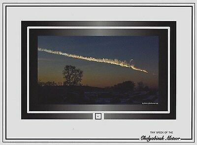 Very tiny SPECK of the 2013 CHELYABINSK METEOR air burst blast meteorite, Russia