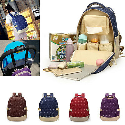 Baby  Pad Diaper Nappy Changing Mother Mummy Backpack Shoulder Bag