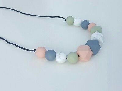Silicone teething beads necklace baby gift sensory jewellery teether ivy mix uk