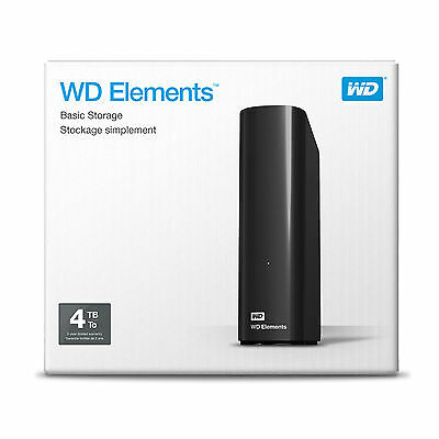 "HARD DISK ESTERNO WD ELEMENTS 4TB 3,5"" WESTERN DIGITAL desktop,WDBWLG0040HBK"