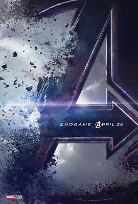 "Marvel AVENGERS END GAME 2019 Advance Teaser DS 2 Sided 27x40"" US Movie Poster"