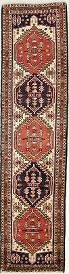 Amazing Hand Knotted Hallway Ardabil Persian Rug Oriental Area Carpet 2'7X10'4
