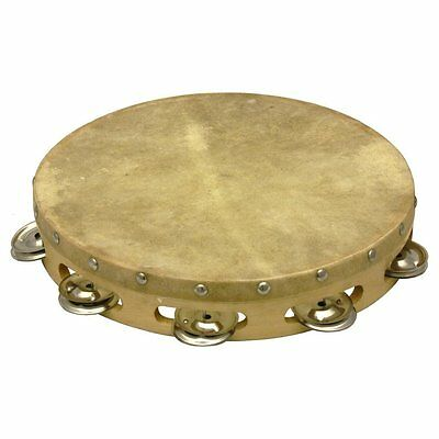 Percussion Workshop 10 Inch Wood Shell Tambourine