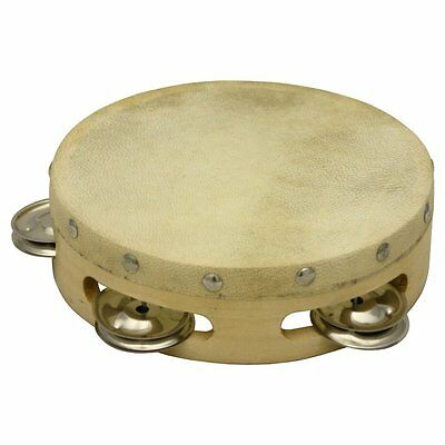 Percussion Workshop 6 Inch Wood Shell Tambourine
