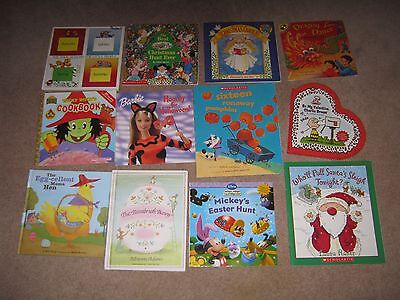 Lot of 12 Holiday Picture Books for Children Easter Halloween Christmas Valentin