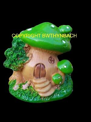 New Design Rubber Latex Mould Mold Small Mushroom Cottage Fairy Fairie House  #1