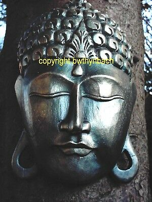 New Rubber Latex Mould Mold Moulds To Make Large Buddha Head Wall Plaque 6