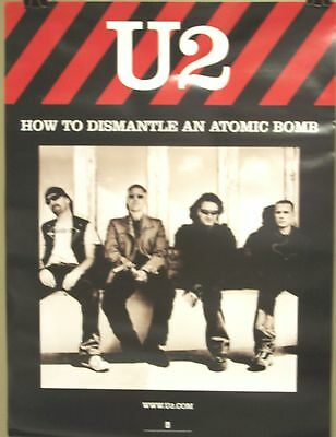 U2 - Bono - HOW TO DISMANTLE AN ATOMIC BOMB Promo Poster [2004] VG++
