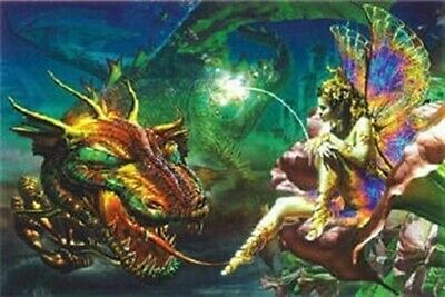 DRAGON FAIRY 24x36 FANTASY ART POSTER Adrian Chesterman NEW/ROLLED!
