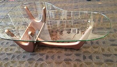 Adrian Pearsall VINTAGE MID CENTURY MODERN COPPER COFFEE TABLE ORIGINAL GLASS