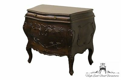 Ornate Italian-Made Three-Drawer 33″  Bombé Chest Nightstand