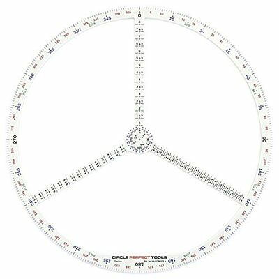 All-in-One Compass Ruler Protractor Goniometer Large (Fractions)