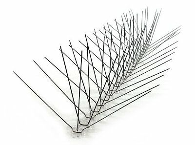 Best Extra Wide Stainless Steel Bird Spike 5 x 10 x 7.5 in Covers 10 feet