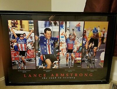 """Lance Armstrong poster """"The Road To Victory"""" numbered  177/200  costacos sports"""