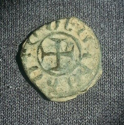 Armenian Medieval Crusaders Era Armenia Bronze Coin Unidentified Cross Reverse