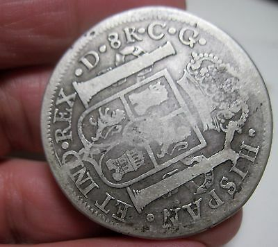 1821 CG (DURANGO) MEXICO (SILVER) 8 REALES ----WAR of INDEPENDENCE **VERY RARE**