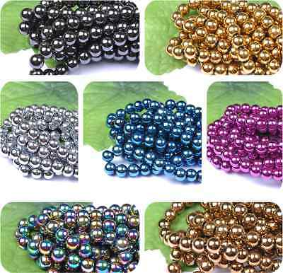 Ball BLACK Not MAGNETIC HEMATITE  Spacer BEADS 4MM 6MM 8MM 10MM 12MM