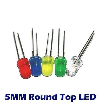 20 pcs 5mm Round Top LED Bulb Light You Choose Color USA FAST SHIPPING